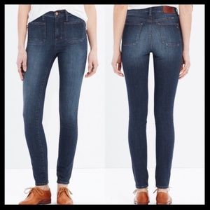 Madewell High Rise Skinny Jeans: Sailor Edition